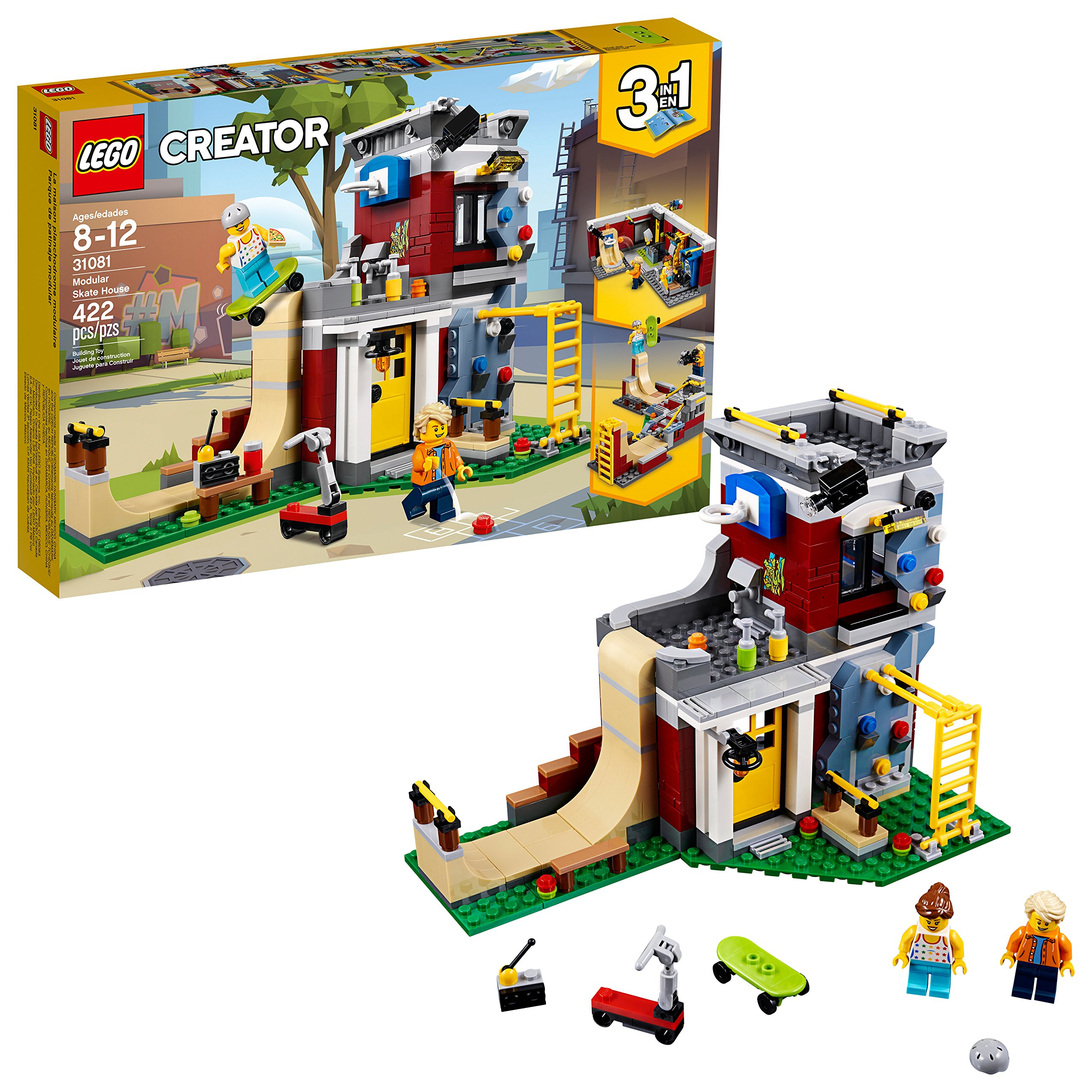 LEGO Creator 3in1 Modular Skate House 31081 Building Kit (422 Piece) by LEGO