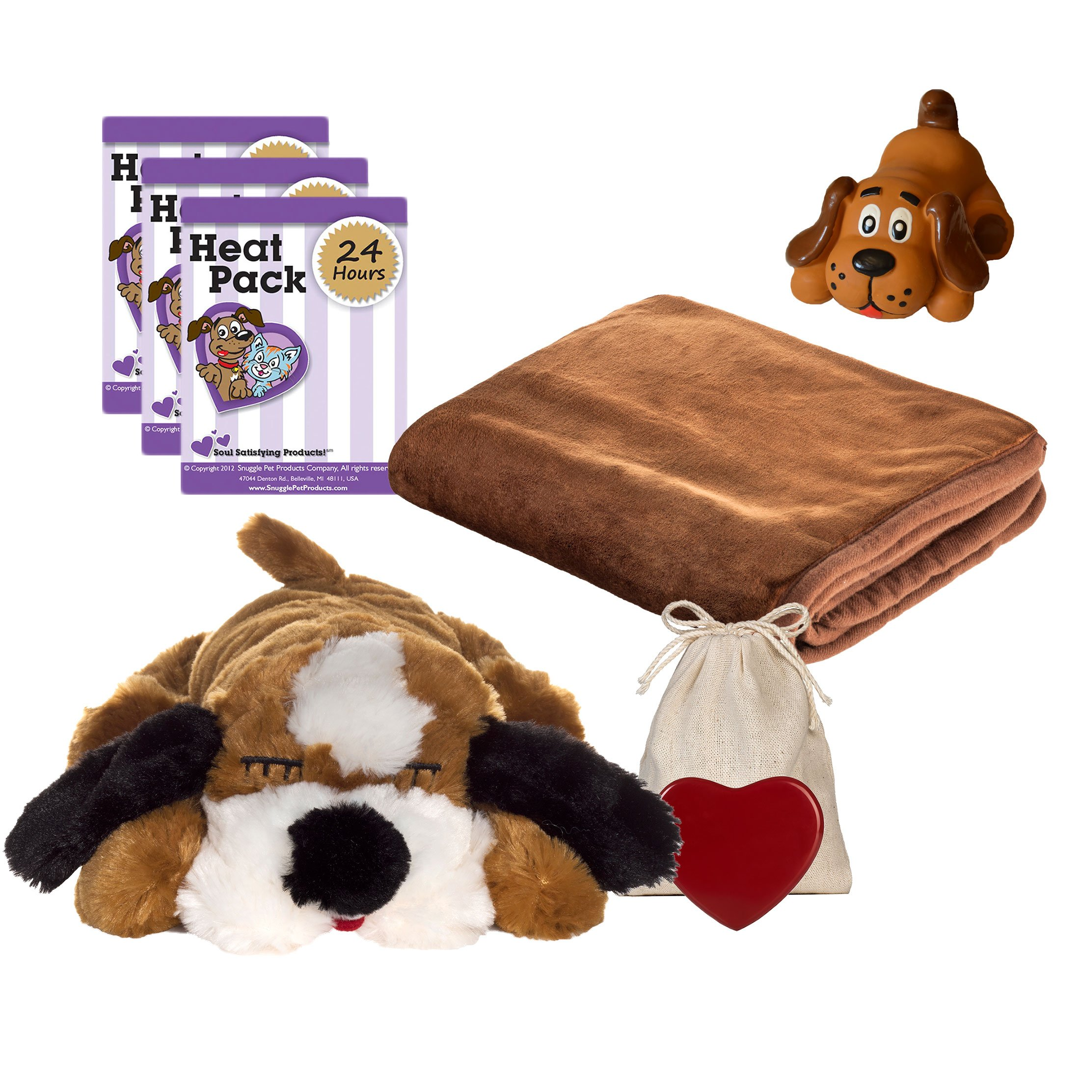 Snuggle Pet Products Snuggle Puppies Starter Kit for Pets, Brown and White