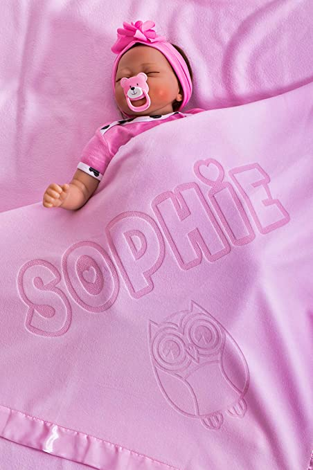 shawl Soft Feet,Embroidered Gift Boys /& Girls Personalised Luxury Baby Blanket