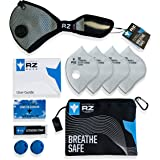 RZ M2 Mesh N99 Dust/Air Filtration Mask Bonus Pack Mask N99 Washable New Adjustable Strap Allergy/Asthma/Construction/Woodworking/Pollution/Adult/Children (Large (125lbs - 215lbs), Black)