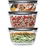 Rubbermaid Meal Prep Premier Food Storage Container, 6 Piece Set, Grey