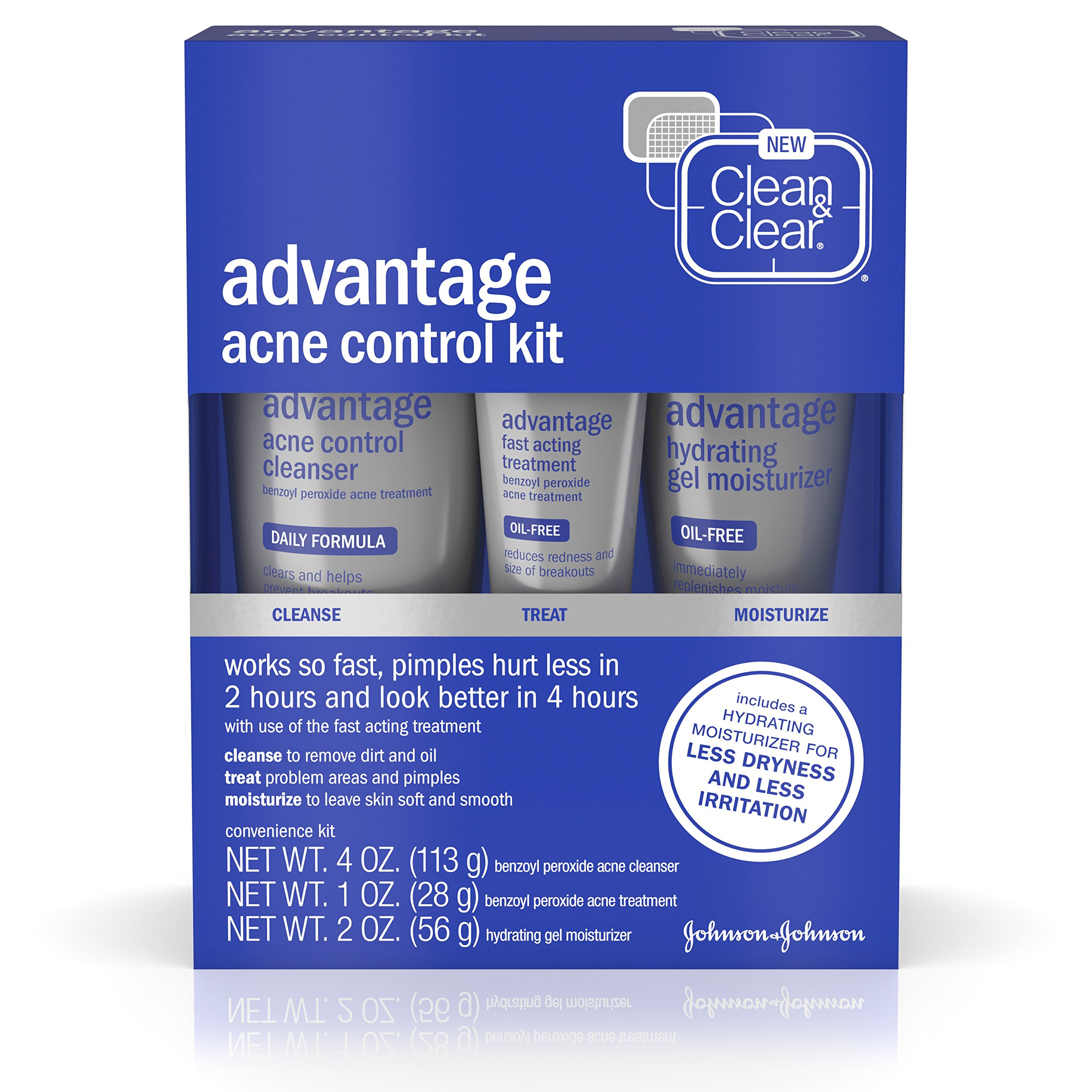 Clean & Clear Advantage Acne Treatment Control Kit For Clear Skin