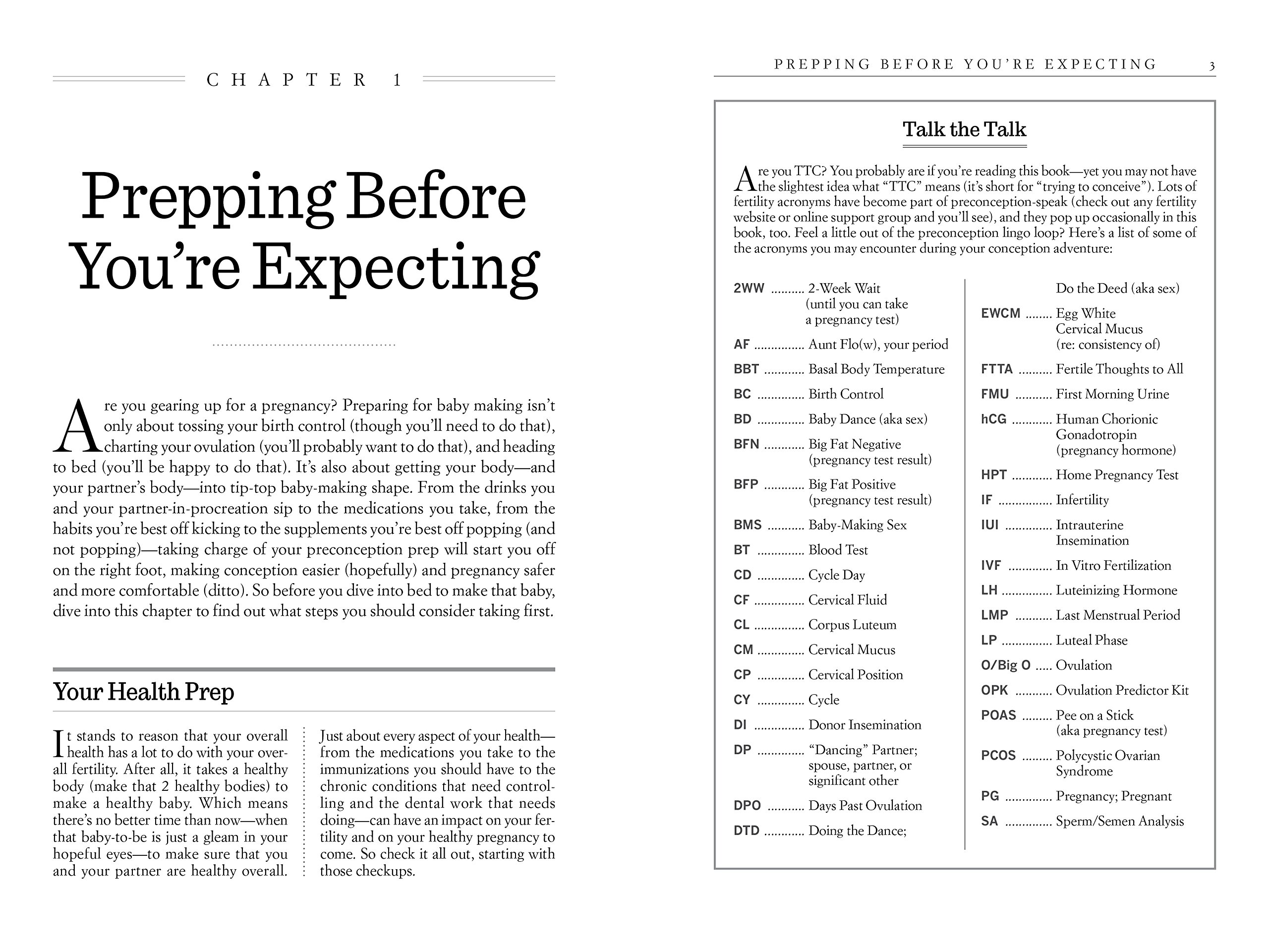What to Expect Before You're Expecting: The Complete Guide to