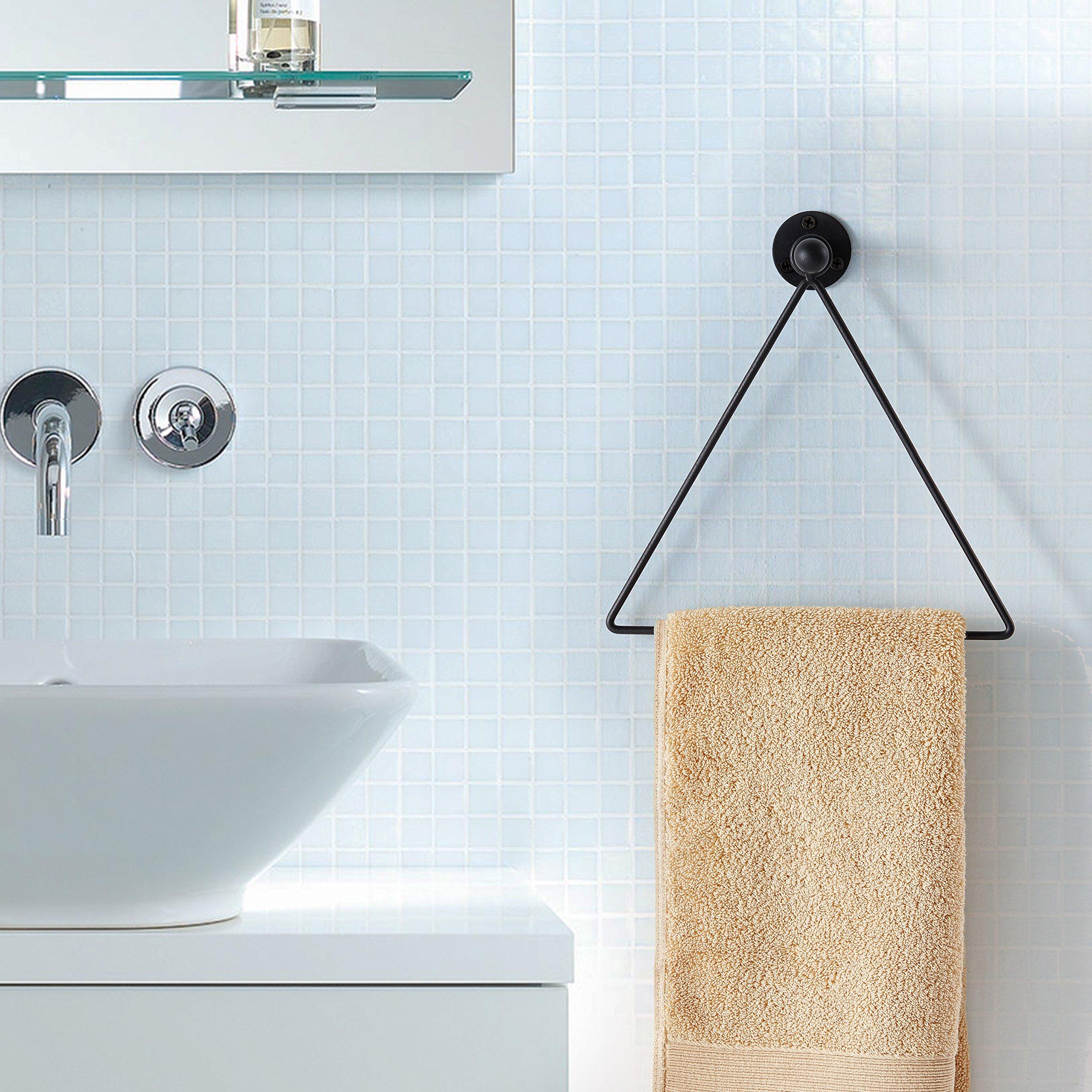 Modern Wall Mounted Triangle Metal Bathroom Kitchen Hand Towel Bar ...