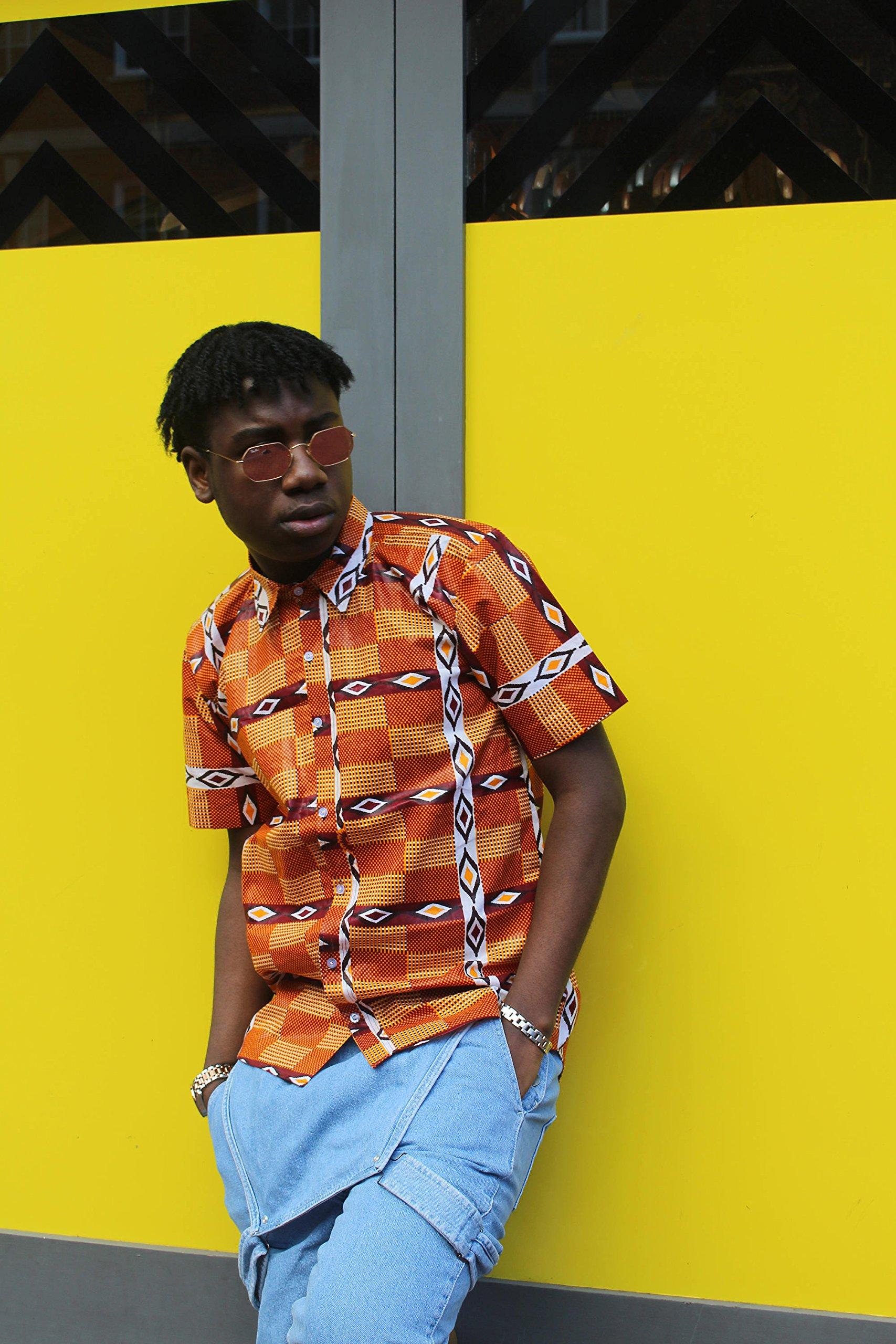 Mens African Print Shirt Kente Shirt Ankara Shirt African Top Festival Shirt African Shirt Festival Clothing Festival African Clothing