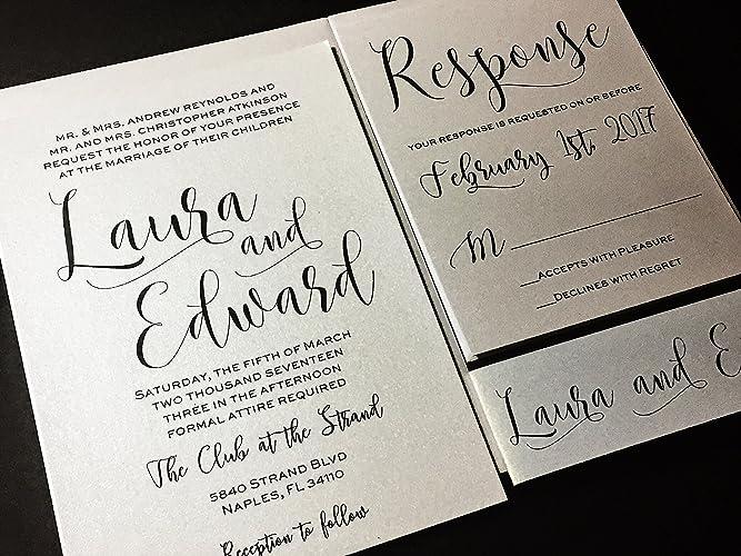 modern wedding invitation set laura sample