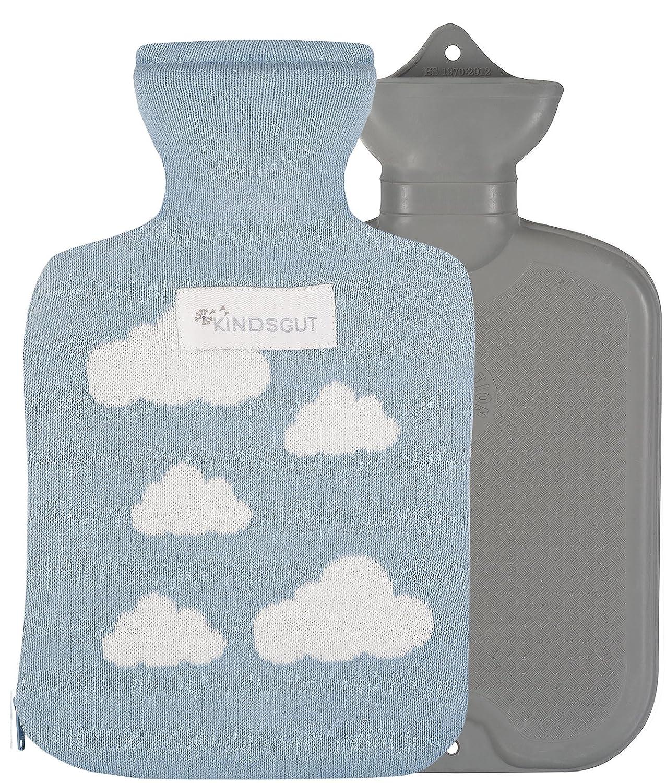 Kindsgut bolsa de agua caliente para beb/és y ni/ños algod/ón con nubes