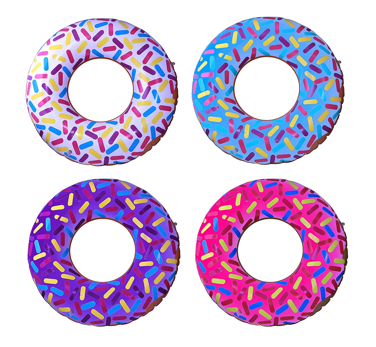 """Inflatable Donuts 24/"""" Pack Of 4 Delicious Looking Sprinkle Donut Inflatables SNInc."""