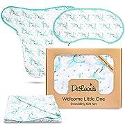 Newborn Baby Registry Gift Set: Blanket, Swaddle Sleeper Sack, Bib/Burp Cloth