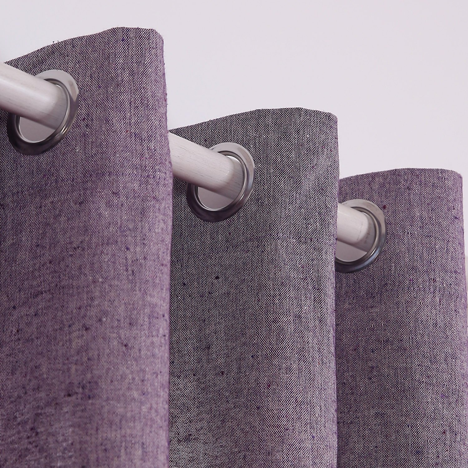 Royal Purple Deconovo Curtains for Bedroom Recycled Cotton Grommet Window Curtains