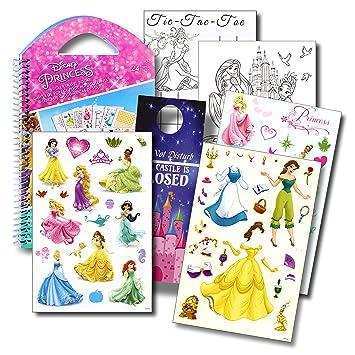disney princess stickers travel activity set with stickers activities and castle door hanger
