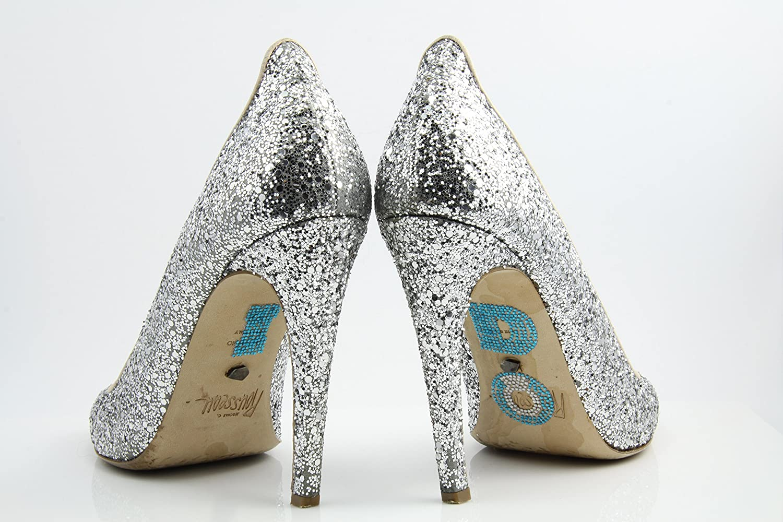 I DO Crystal Shoe Wedding Stickers with Large Diamond Ring