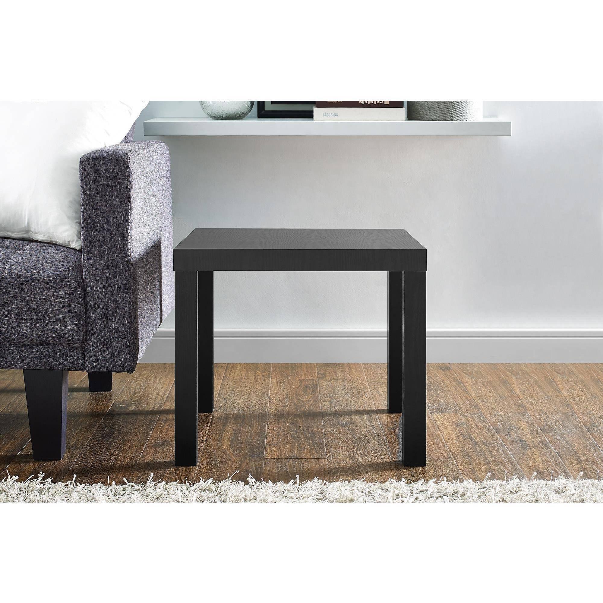 Mainstays Parsons End Table, Multiple Colors (Black)