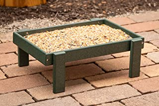 product image for DutchCrafters Recycled Plastic Platform Ground Bird Feeder Tray Made in America (Turf Green)