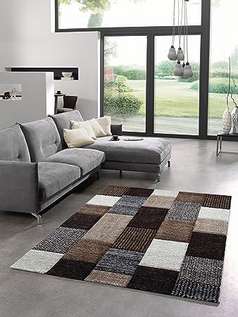 Teppich Designer Wohnzimmer Trendiger Kurzflor Teppich Patchwork ...