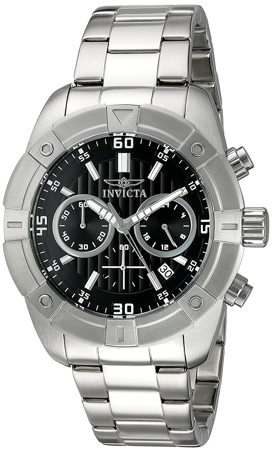 Invicta Men s 21466 Specialty Analog Display Japanese Quartz Silver-Tone Watch