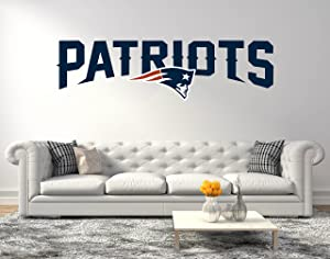 American Football Team New England P - Quote Super Bowl Teams - Wall Decal for Home Decoration (Wide 30