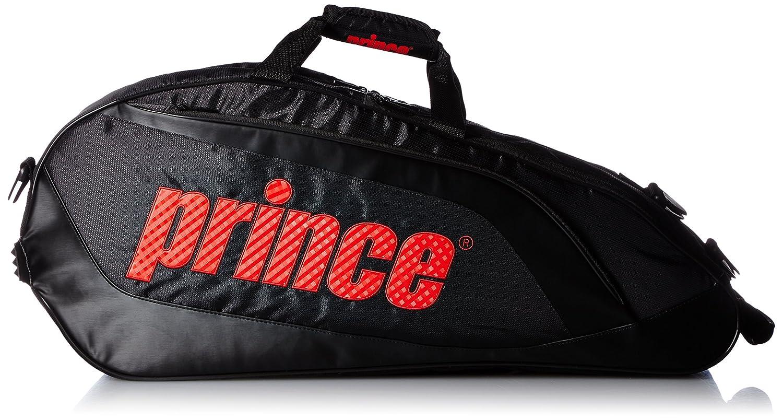 [プリンス] PRINCE ラケットバッグ6本入り B0154FXR5U ブラック/レッド ブラック/レッド