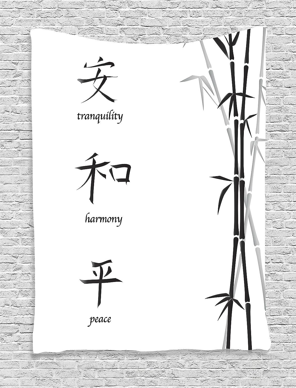 Amazon Ambesonne Bamboo House Decor Tapestry Illustration Of