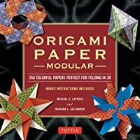 Modular Origami Paper Pack: 350 Colorful Papers Perfect for Folding in 3D