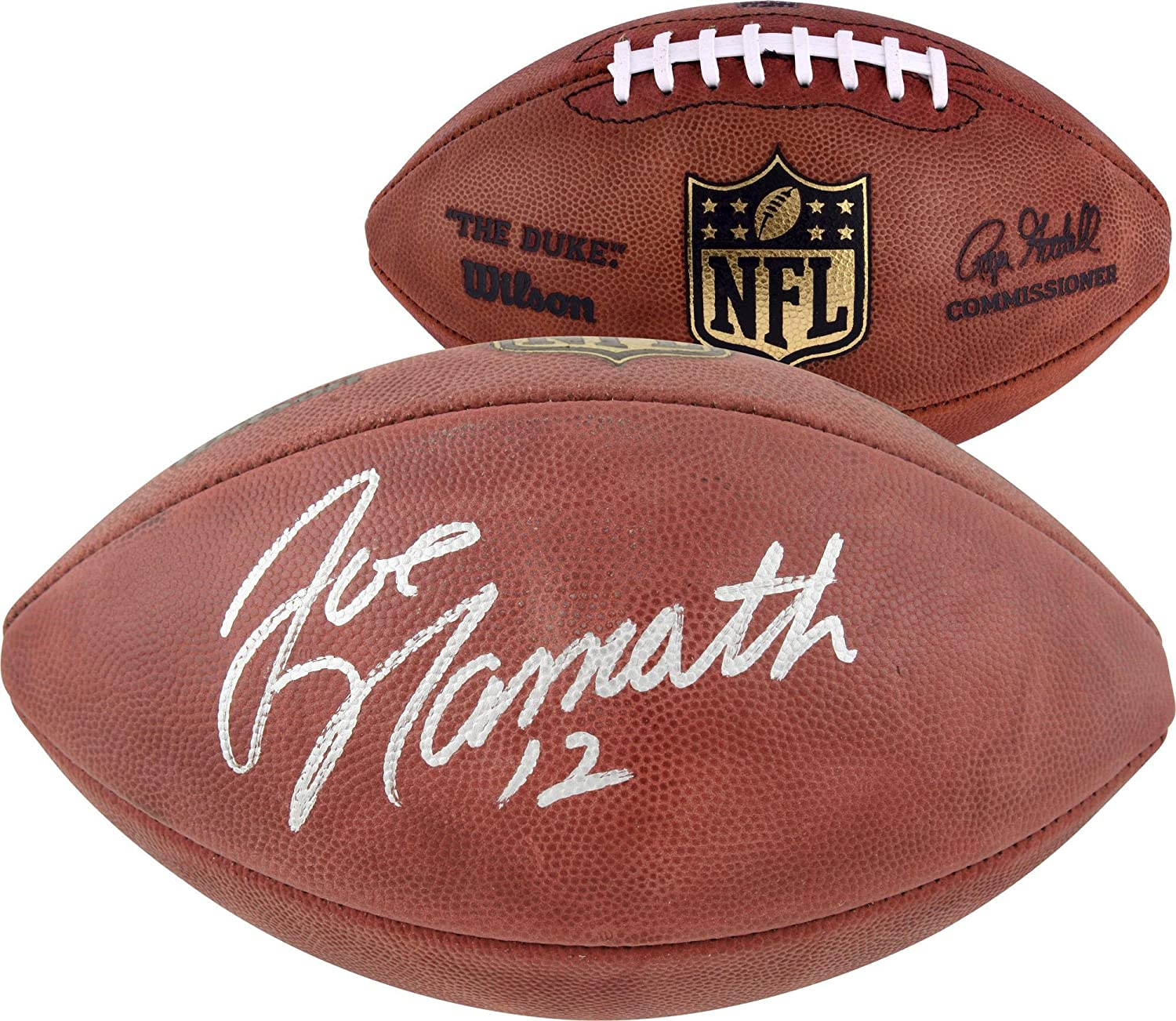 New York Jets Joe Namath Autographed Football - Fanatics Authentic Certified - Autographed Footballs