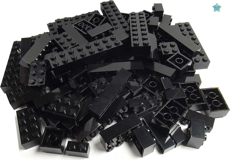 LEGO ERSATZSTEINE 10 Stk schwarze Platte