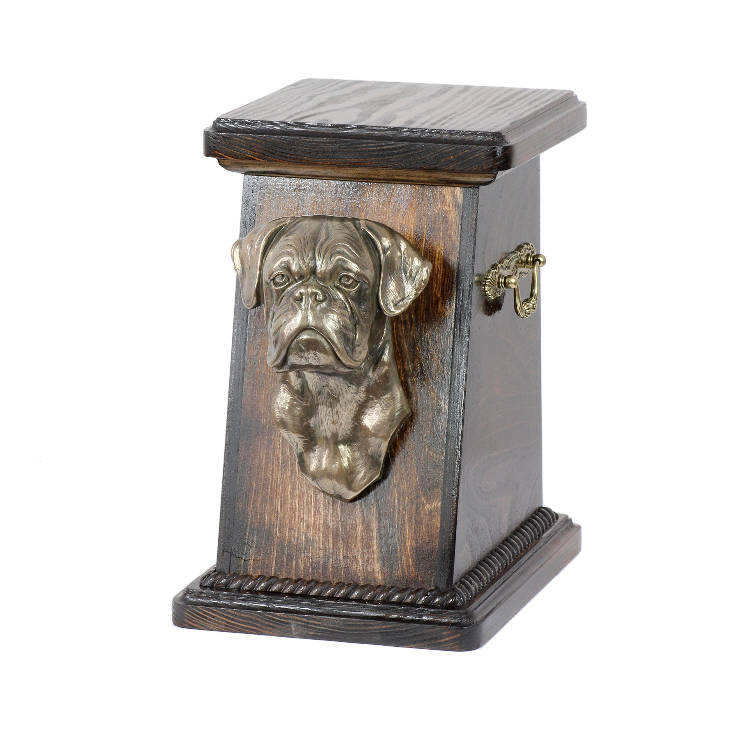 Boxer (second), memorial, urn for dog's ashes, with dog statue, ArtDog