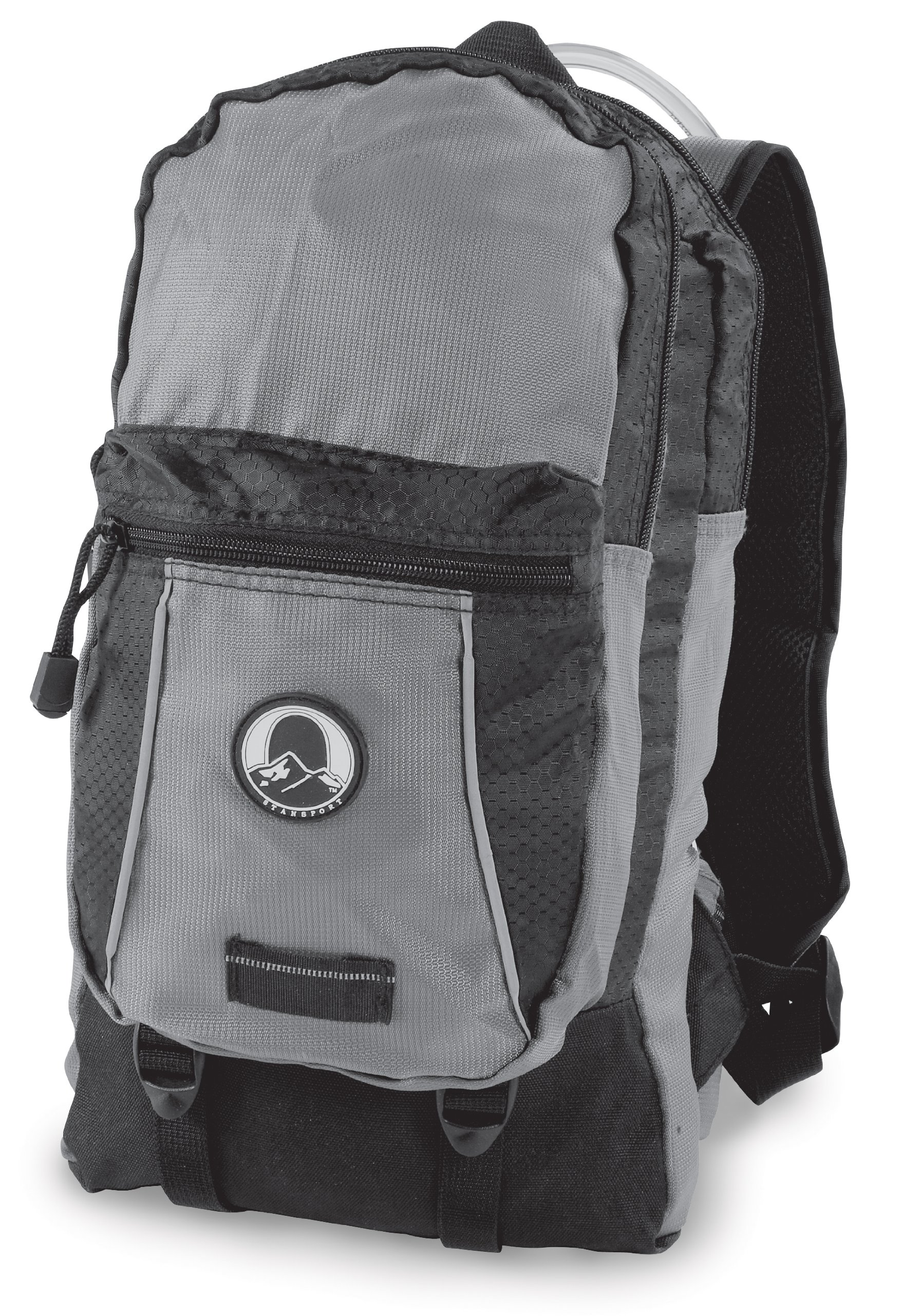 Stansport ''Red Wall'' Hydration Backpack, 2-Liter, Black/Gray by Stansport
