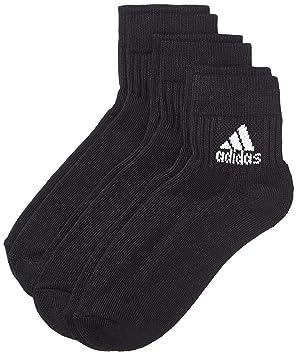 Adidas Socken 3 Paar Adiankle Halbgepolsterte Kurzsocken - Calcetines, color negro, blanco, talla DE: 31-34: Amazon.es: Deportes y aire libre