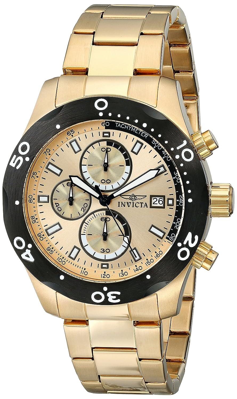 Amazon.com: Invicta Mens 17754 Specialty Analog Display Japanese Quartz Gold Watch: Invicta: Watches