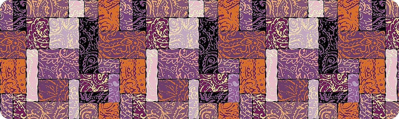 Economica 10 mm Testiera per Letto in PVC Decorativa Stile Indiano Etnico. MEGADECOR Motivo Paisley di Grunge in Mosaico