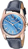 Burgi Skinny Leather Women's Watch BUR167 - Swarovski Crystal Markers on Mother of Pearl Dial – Embossed Designer Bracelet Band –