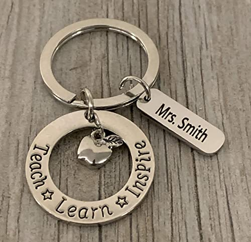 end of year gifts Personalized Teacher/'s keychain