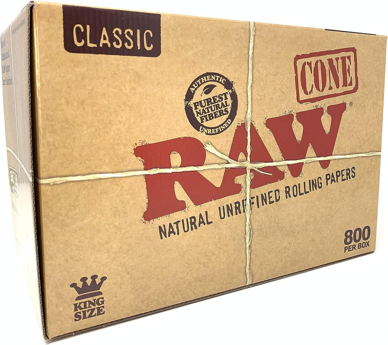 CAJA DE 800 CONOS DE PAPEL DE LIAR RAW KING SIZE CLASSIC: Amazon.es: Salud y cuidado personal