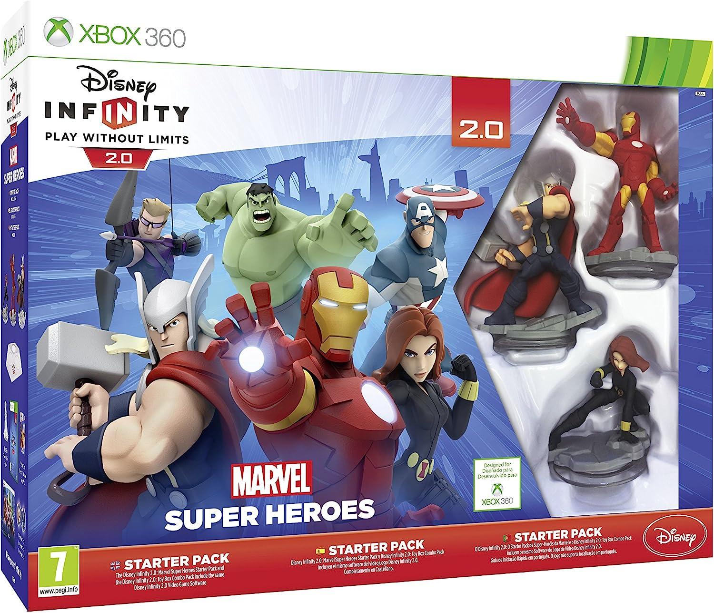 Disney Infinity : Starter Pack 2.0. Marvel Super Heroes - Xbox 360: Amazon.es: Videojuegos