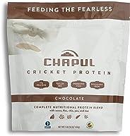 Chapul Cricket Protein Powder (Chocolate, 1 Pound) - 20g Complete Protein per Serving, High in Prebiotic Fiber, Low Sugar, 5 Net Carbs, Keto-Friendly