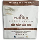 Chapul Cricket Protein Powder (Chocolate, 1 Pound) - 20g Complete Protein per Serving, High in Prebiotic Fiber, Low Sugar, 5 Net Carbs, Keto-Friendly