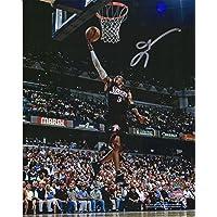 """$151 » Allen Iverson Philadelphia 76ers Autographed 8"""" x 10"""" Lay In Black Photograph - Autographed NBA Photos"""