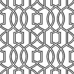 NuWallpaper NU1696 Uptown Trellis Black/White Peel & Stick Wallpaper