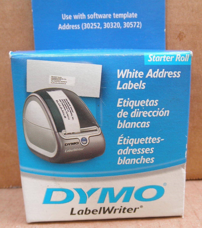 amazon com dymo white address labels starter roll for dymo