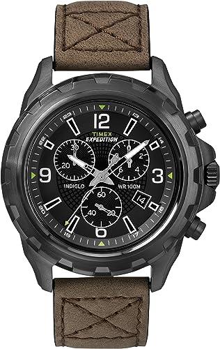Timex Expedition T49986 - Reloj de cuarzo para hombre, correa de cuero color marrón: Amazon.es: Relojes