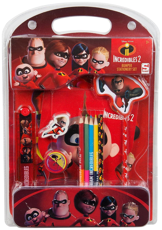 Los Increíbles 2 Set Papelería para Niños Objetos Kawaii Material Escolar Edición Limitada: Amazon.es: Juguetes y juegos