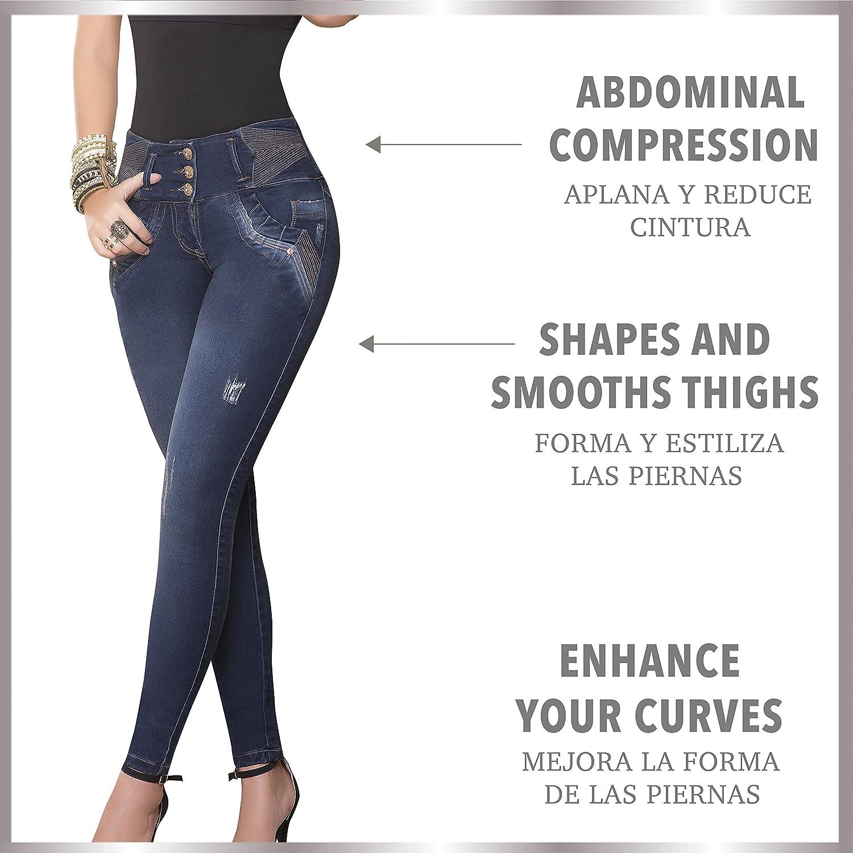Aranza Women Jeans Butt Lifting Colombian Stretch Lifter High Pants Pantalon Mujer Cintura at Amazon Womens Jeans store