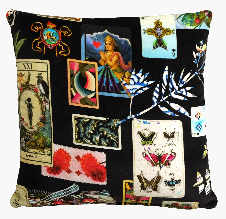 Christian lacroix maison de jeu reglisse cushion cover 16x16 amazon co uk handmade