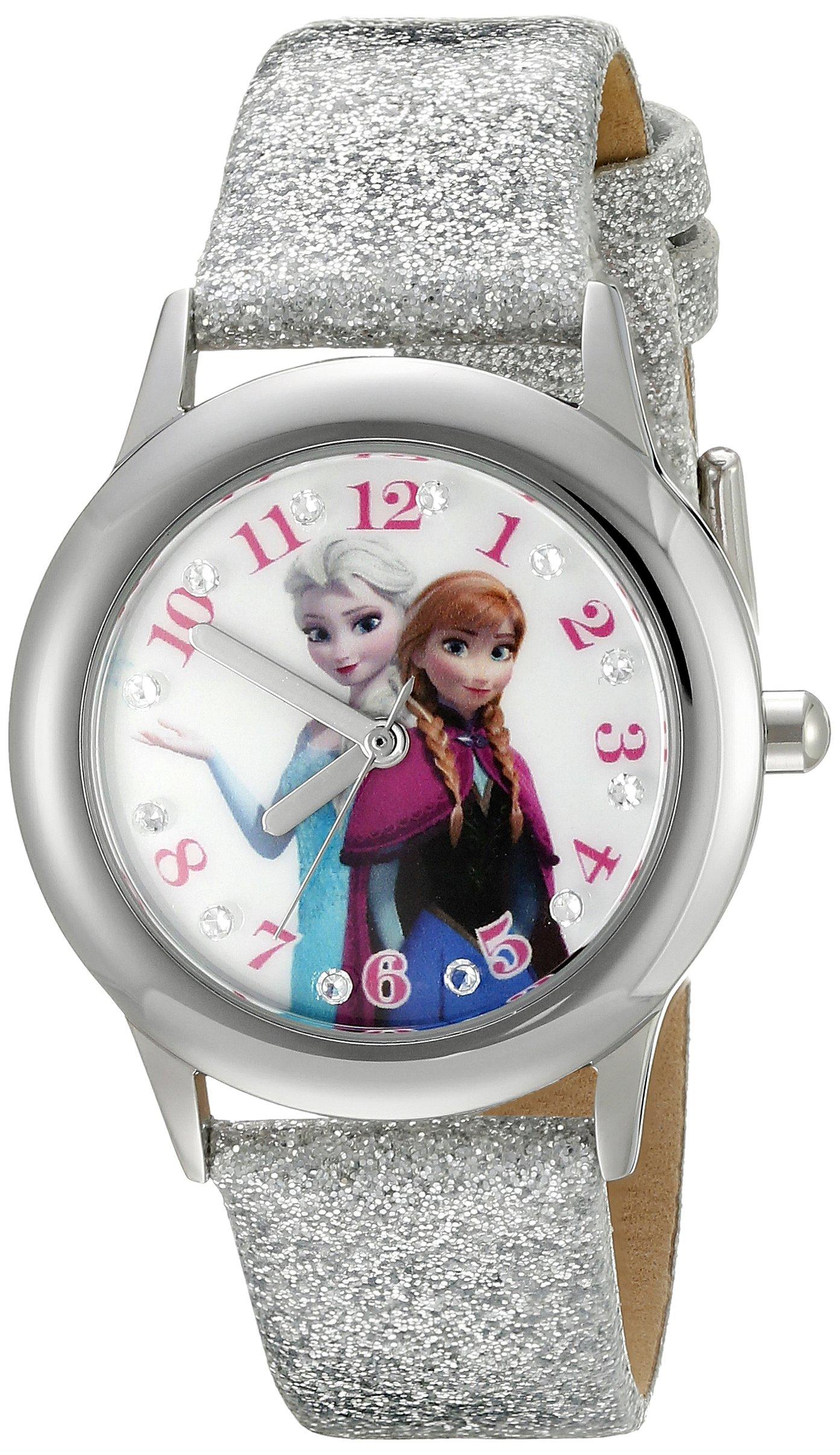 Disney Infinity Kids' W002505 Frozen  Elsa & Anna Analog Display Analog Quartz Silver Watch