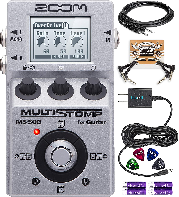 Amazon Com Zoom Ms 50g Multistomp Multi Effects Pedal