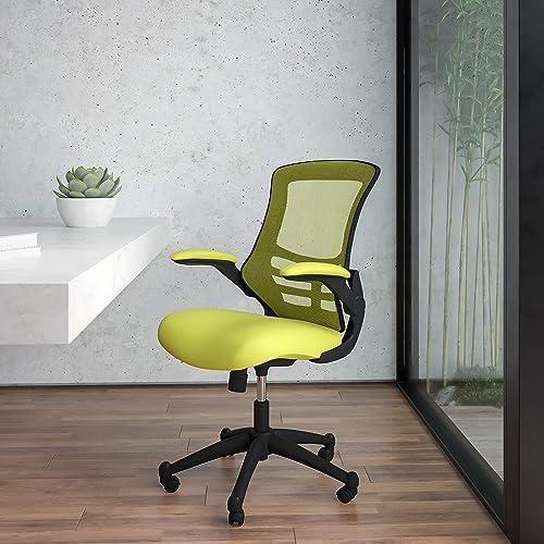 BizChair Mid-Back Green Mesh Swivel Ergonomic Task Office Desk Chair