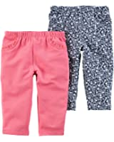 Carter's Baby Girls' 2 Pack Pants (Baby)