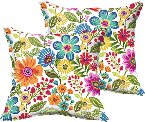 Humble and Haute Galliford Multi Floral Indoor/Outdoor Flange Pillow Set 18