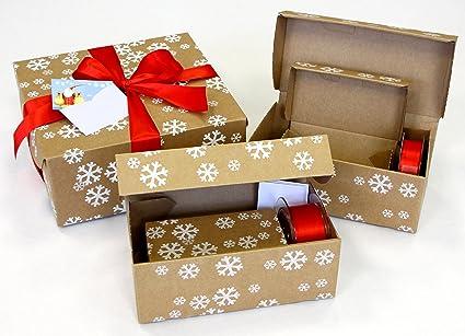 Geschenkkarton Weihnachten.Geschenkverpackung Geschenkkarton Weihnachten Als Alternative Zu Geschenkpapier Aus Wellpappe Mit 5 Unterschiedlich Grossen Geschenkboxen Rot